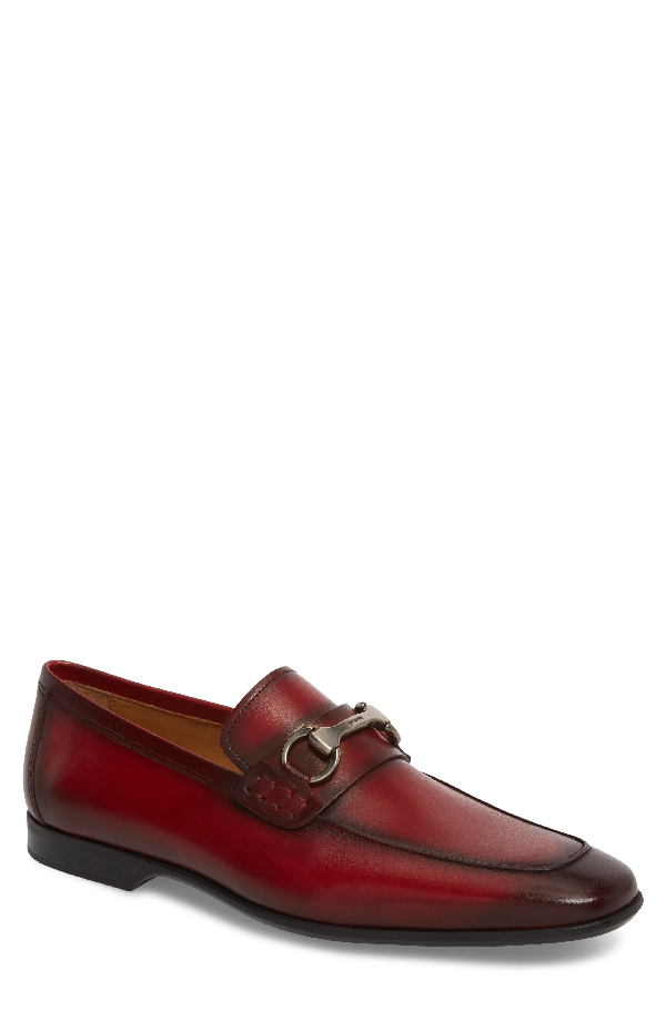Magnanni 'rafa Ii' Bit Loafer In Red/ Red Leather