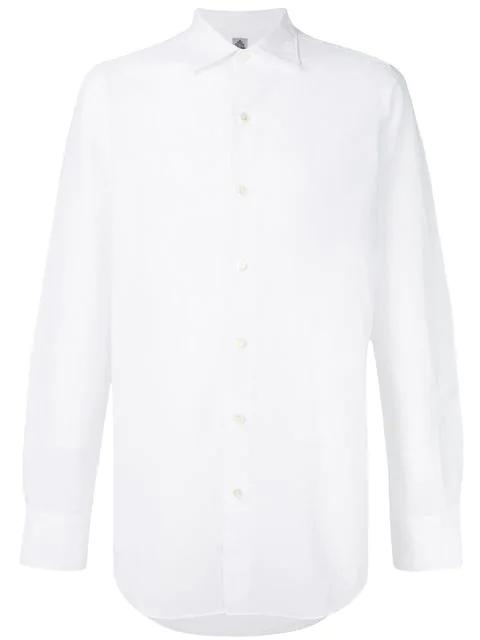 b0e25a622a0 Finamore Napoli Finamore 1925 Napoli Long Sleeved Shirt - White. Farfetch