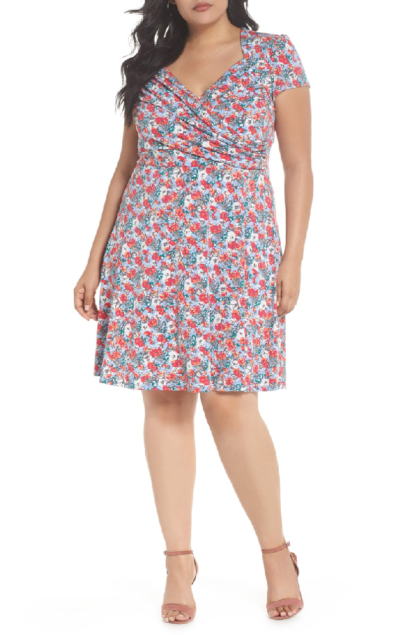 Leota Print Jersey Fit & Flare Dress In Floral Camo