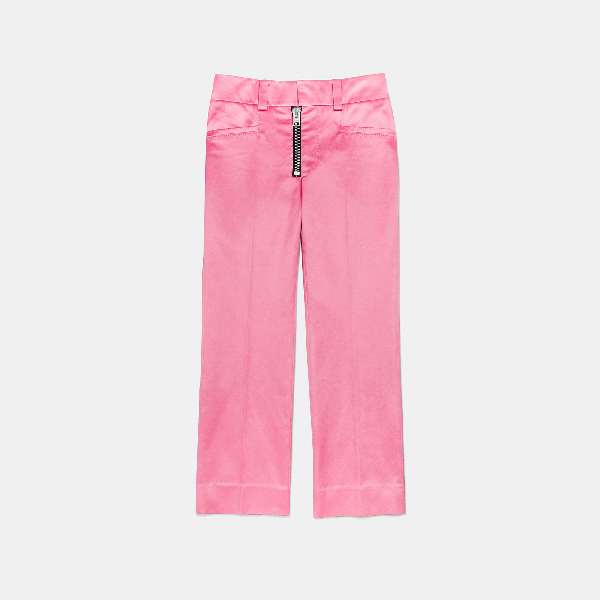 Coach Cropped Tailored Trousers In Light Fuschia