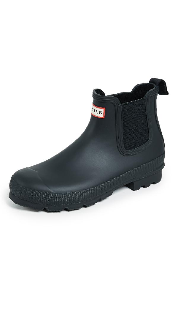 Hunter 'original' Waterproof Chelsea Rain Boot In Black