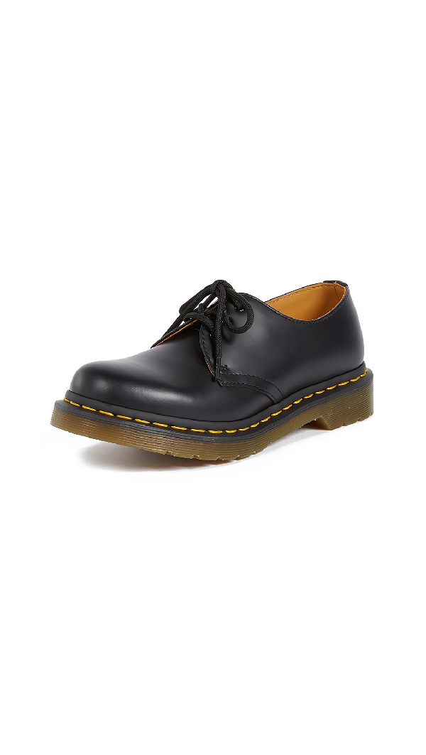 Dr. Martens Dr Martens 1461 3-Eye Gibson Flat Shoes In Black