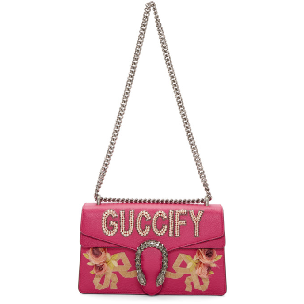 200fcfb59ab2a4 Gucci Small Embellished Dionysus Shoulder Bag In 5772 Pink | ModeSens