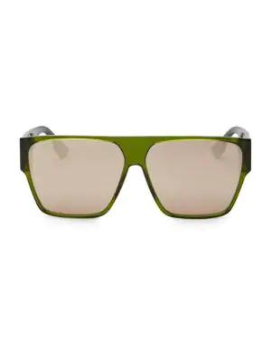 6032224b83bb Dior 62Mm Hit Flat Top Sunglasses In Green