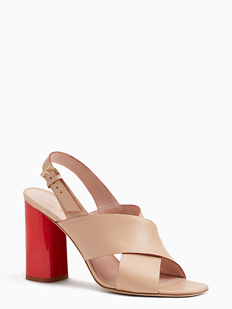 6f2ed0f76ce8 Kate Spade Christopher Too Heels In Natural Vacchetta Paprika
