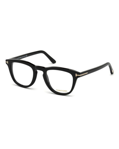 661b8adc65 Tom Ford Blue Block Two-Tone Transparent Acetate Square Optical Frames In  Shiny Black