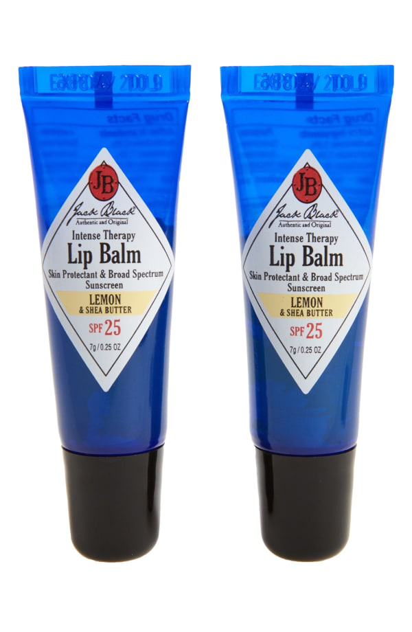 Jack Black Intense Therapy Lip Balm Spf 25 Duo (nordstrom Exclusive) In Lemon Shea
