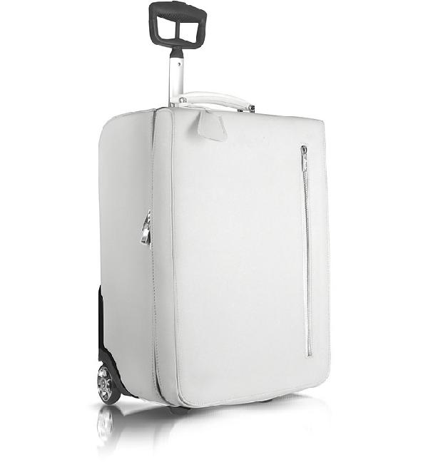 Pineider City Chic - Calfskin Trolley Upright In White