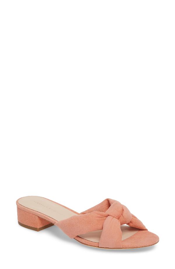 30581b5ad1 Loeffler Randall Women's Elsie Suede Low Block Heel Slide Sandals In Pink