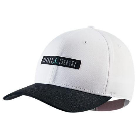 74dcbb09 Nike Jordan Classic 99 Aj Retro 11 Legacy Snapback Hat, Men'S, White ...