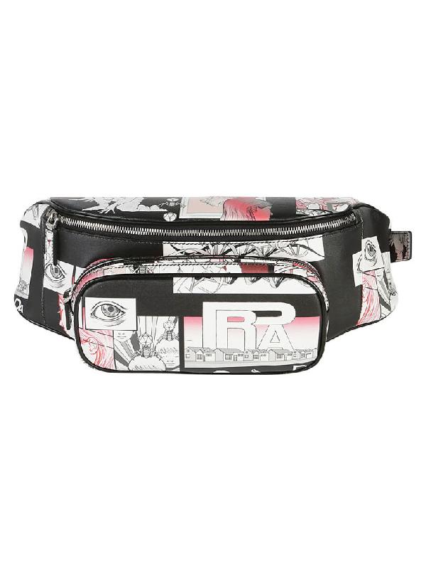 60790979a8e2 Prada Comic-Strip Print Leather Belt Bag In Black Multi | ModeSens