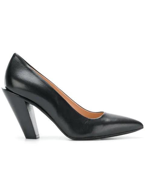 A.F.Vandevorst Block Heel Pumps In Black