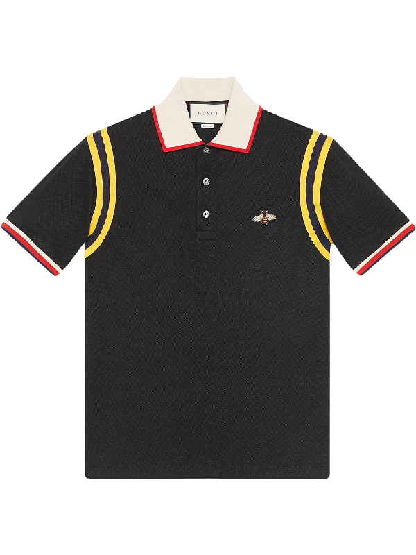 274bae1d5bc Gucci Bee-Embroidered Polo Shirt