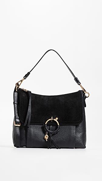 See By ChloÉ Joan Large Shoulder Bag In Black