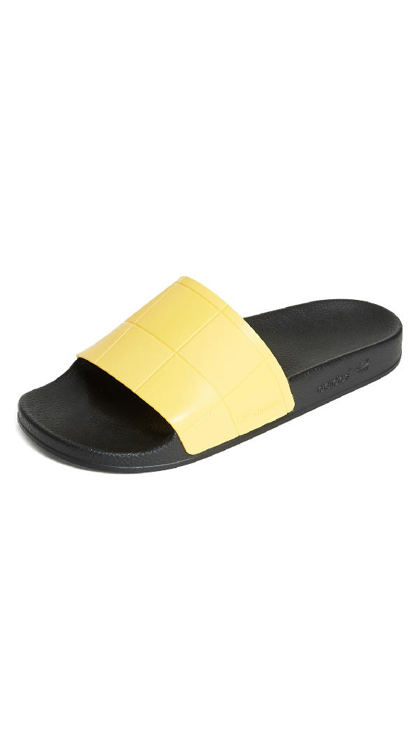 buy popular 75ed0 a4291 Adidas By Raf Simons Raf Simons For Adidas Women s Adilette Checkerboard  Slide Sandals In Core Black