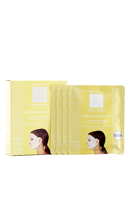 Dermovia Brightening Bearberry Lace Your Face Mask 4 Pack In N,a