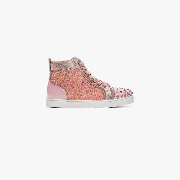 c8791ad3b7c3 Christian Louboutin Lou Degra Spikes Woman Flat In Pink | ModeSens