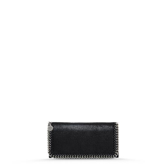 Stella Mccartney Fallabella Wallet In Black