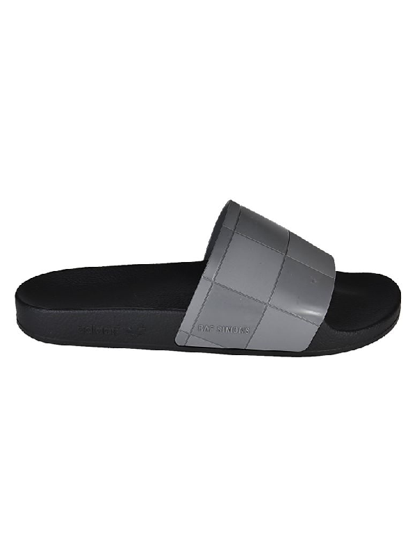 a2319005a78f Adidas By Raf Simons Raf Simons For Adidas Women s Adilette Checkerboard  Pool Slide Sandals In Cblack