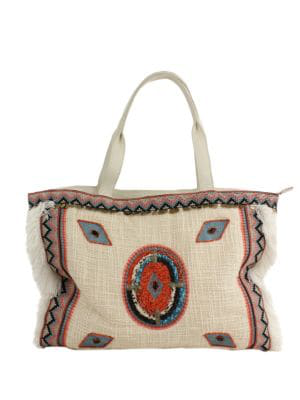 Sam Edelman Titian Woven Tote In Bright Multi