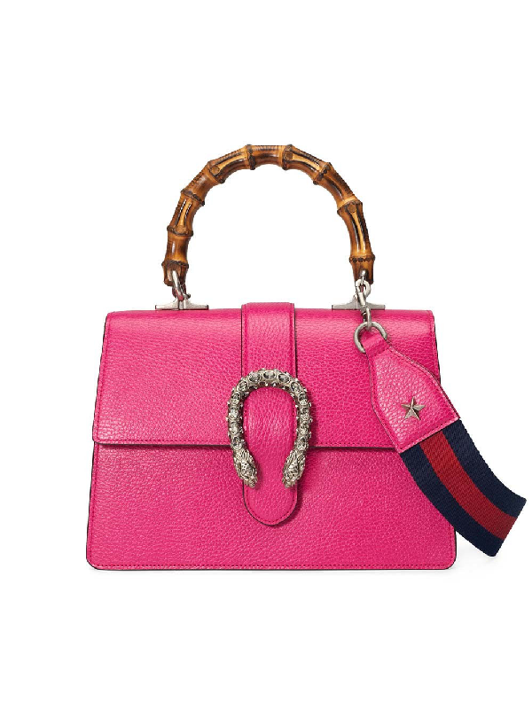 ba9e944f2dc850 Gucci Dionysus Medium Leather Top-Handle Bag In 5770 Pink | ModeSens