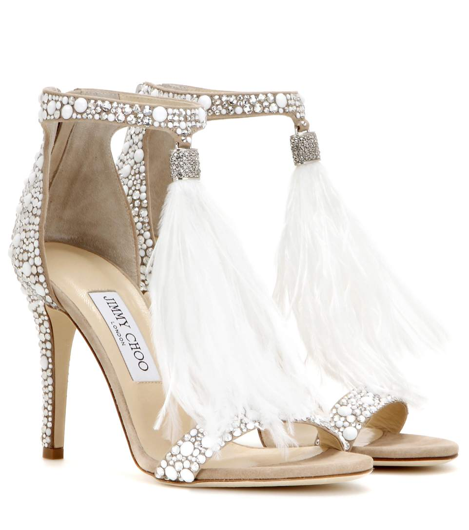Viola 110 White Crystal And Suede Fix Choo Hot Jimmy Embellished 80nkwOPNX