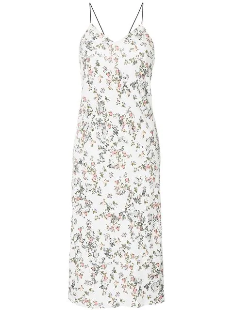 afb587e397be9 Rag & Bone Astrid Floral-Print Viscose Slip Dress In White | ModeSens