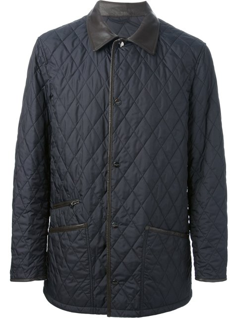 Salvatore Ferragamo Quilted Jacket - Blue