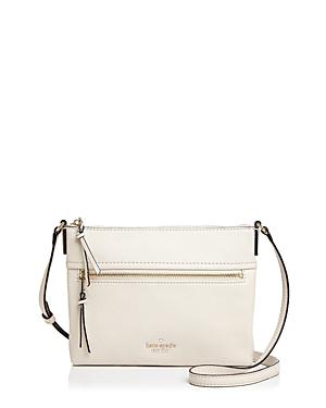22624efb4 Kate Spade Jackson Street - Gabriele Leather Crossbody Bag - White In Bleach  Bone