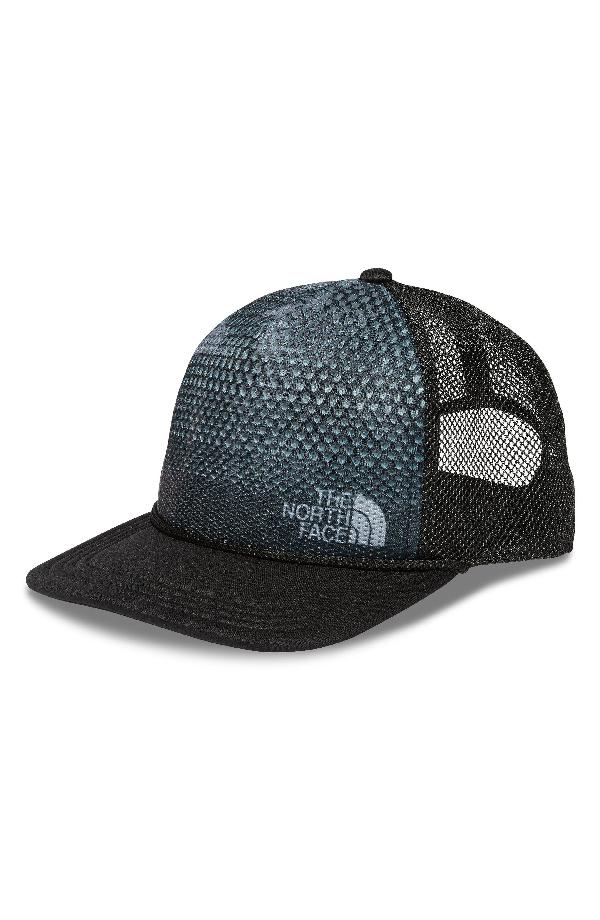 eb6a9231b9 The North Face Trail Trucker Hat - Black In Tnf Black Crag Camo Print