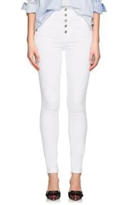 20970d75449c J Brand Natasha Sky High Button-Fly Coated Skinny Jeans