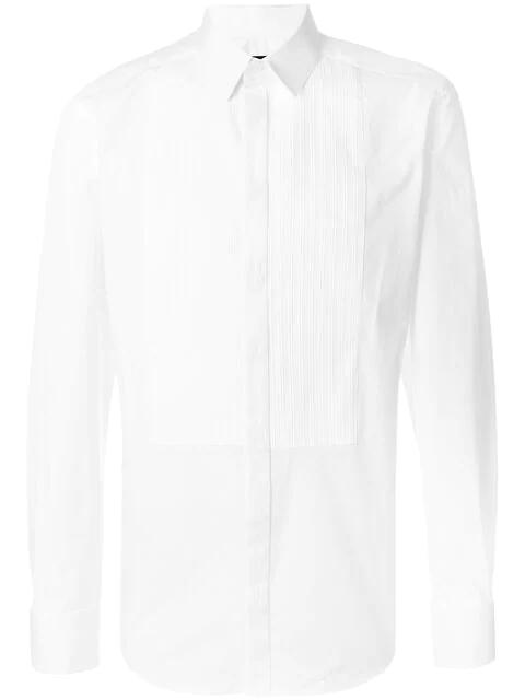 Dolce & Gabbana White Stretch Techno Cotton Shirt