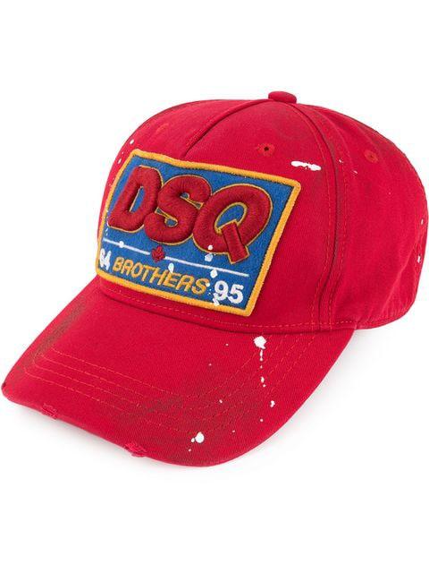 Dsquared2 Dsq Logo Patch Baseball Cap In Red
