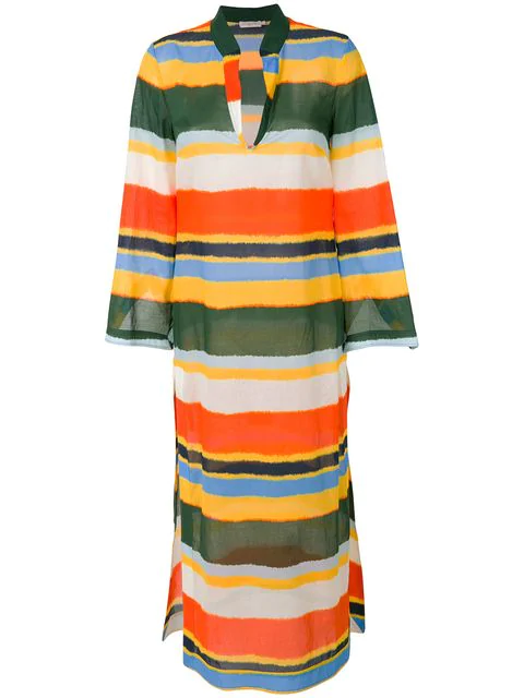 6523f47e5b727 Tory Burch Stephanie Beach Cotton-Voile Tie-Dye Kaftan In Multicoloured