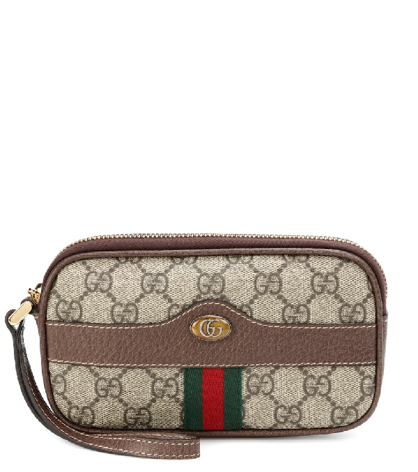 4acb9295e855 Gucci Brown Gg Supreme Ophidia Iphone Case Belt Bag In 8745 Beige ...