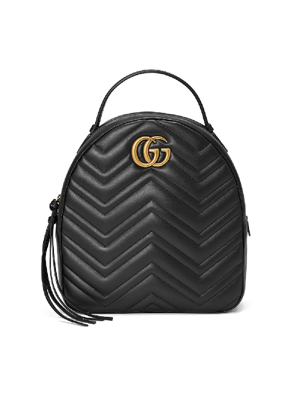 92a0a4a6b28b Gucci Gg Marmont 2.0 MatelassÉ Quilted Velvet Backpack In Black ...