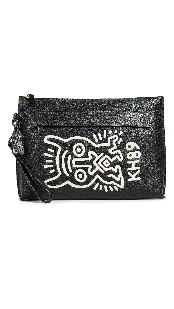 Coach 1941 X Keith Haring Glovetan Pouch In Monster/black