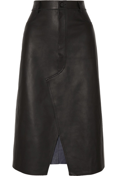 d2f31e0871 Dion Lee Leather Midi Skirt In Black | ModeSens