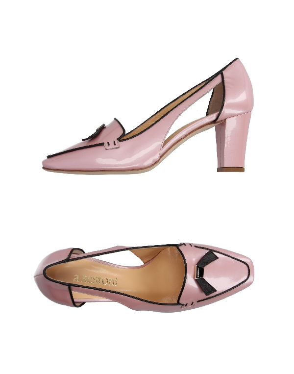 A.testoni Loafers In Pink