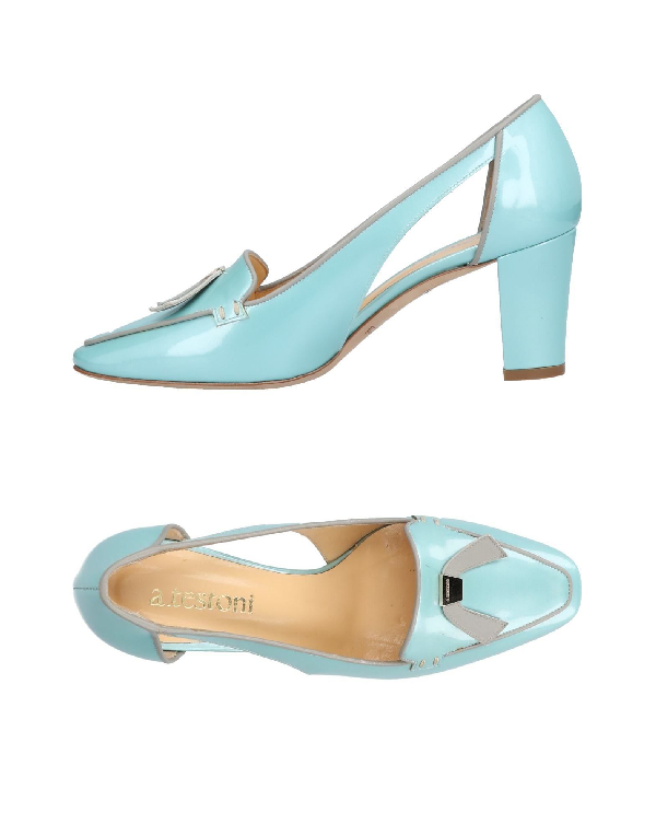 A.testoni Loafers In Sky Blue