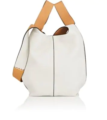 55b4ab102 Loewe Colorblock Leather Hobo Tote Bag In White | ModeSens