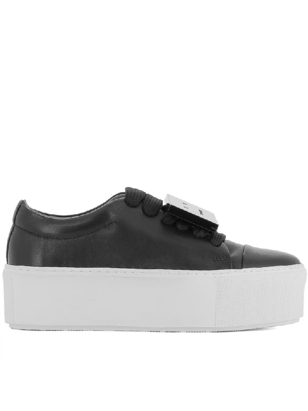 ae263cb9f4 Acne Studios Drihanna Nappa Leather Platform Sneakers In Black ...