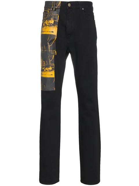 fc6fdfbde8a Calvin Klein 205W39Nyc Calvin Klein X Andy Warhol Car Crash Print Jeans In  Black