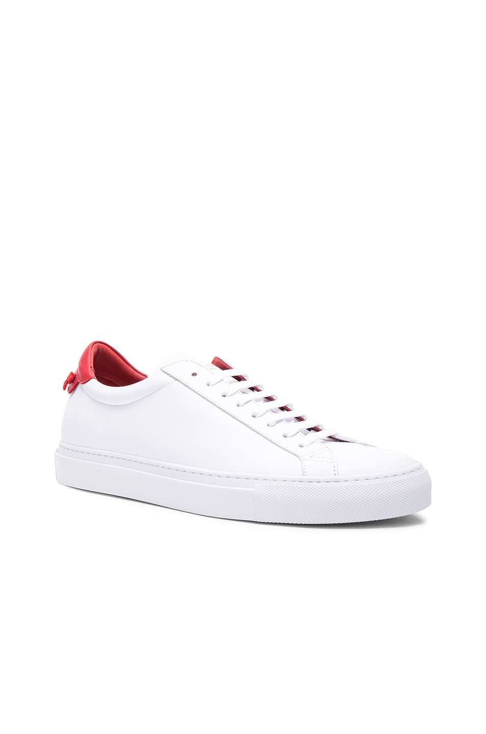 Givenchy Paris Urban Street Sneakers In White And Red In 112 Red