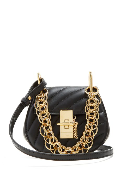 1aa5fa7921 CHLOÉ - DREW BIJOU NANO LEATHER CROSS BODY BAG - WOMENS - BLACK