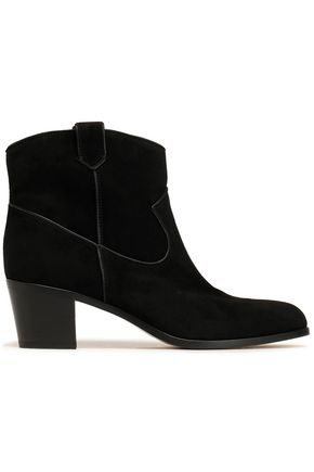 Gianvito Rossi Woman Leather Ankle Boots Black