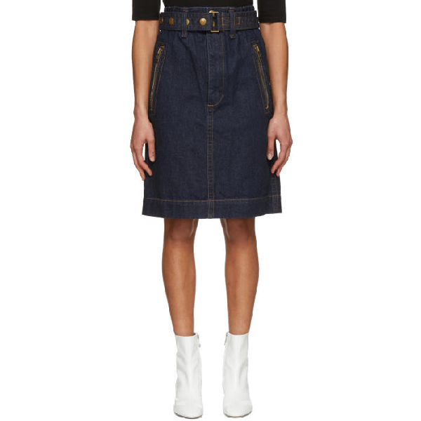 7416ac3eae Marc Jacobs Denim Skirt With Zip Pockets In 421 Indigo | ModeSens