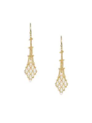 Amali 18k Yellow Gold & Pearl Drop Earrings
