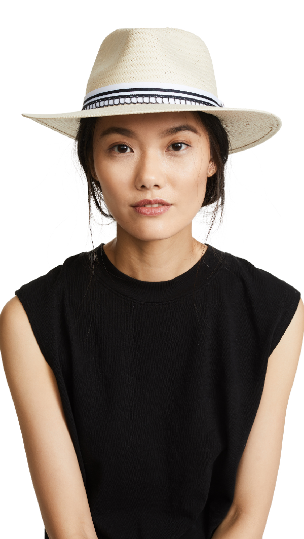 668e402131a74 Rag   Bone Packable Straw Fedora - Brown In Natural