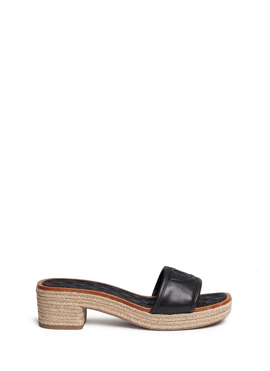 48d02ff87 Tory Burch Fleming Quilted Leather Espadrille Mule